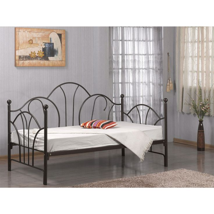 Twin size Day Bed Frame with Slats in Bronze Metal Finish $227.88