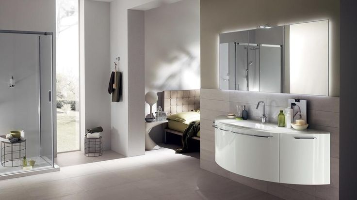 Aquo Bathroom - Scavolini by Scavolini Kitchen, Living and Bathroom with artemide Castore