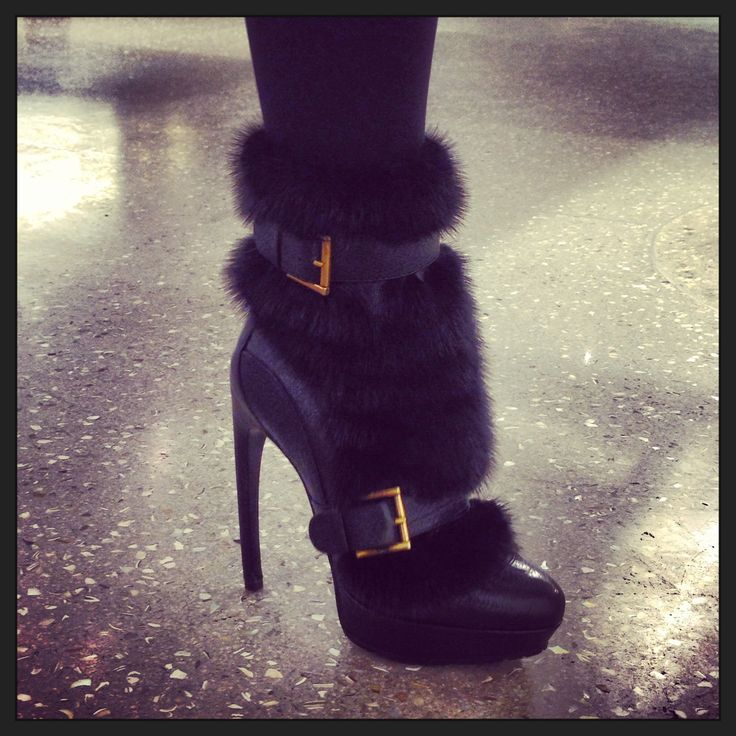 Alexander McQueen mink fur boots...look at me, thinking about winter already!! :(