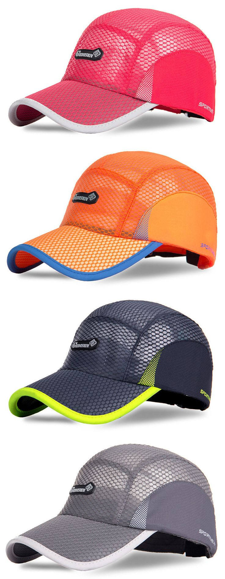 Men Women Summer Breathable Mesh Quick-drying Baseball Hat Outdoor Sport Waterproof Sunshade Cap