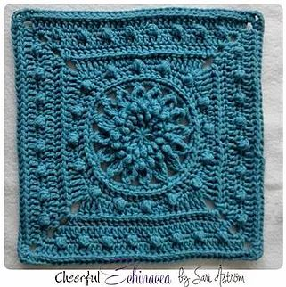 Cheerful Echinacea crochet pattern in English and with many other languages