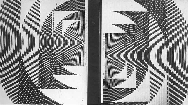 Undulatory Mirage, 1968 by Constantin Flondor. Op Art. abstract