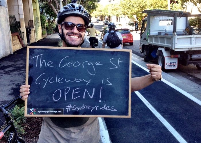 It's growing! Sydney celebrates newest cycleway with Roll Through Redfern: http://cycletraveller.com.au/australia/news/sydneys-newest-cycleway-officially-opens-along-george-street-redfern #sydneyrides #cycling