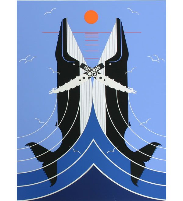 Charley Harper whales. (Romance On A Richter Scale)