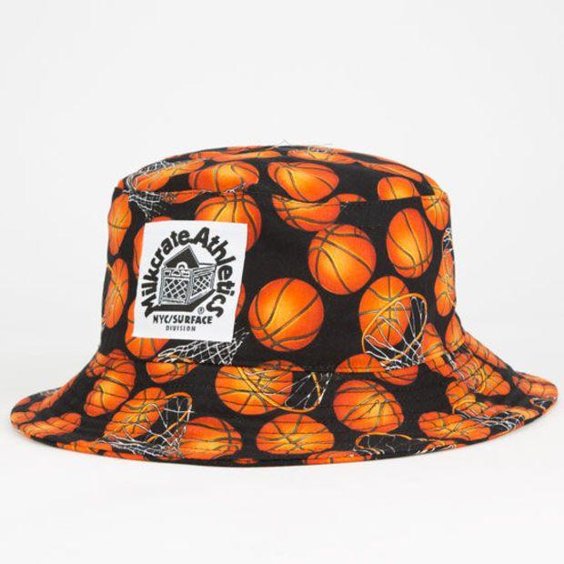Milkcrate Athletics Basketball Mens Bucket Hat Black Combo One Size For Men 25341514901