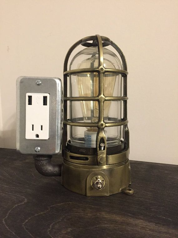 Buy now! USB Lamp with protective cage and toggle switch for light controls.   www.etsy.com/shop/bosslamps
