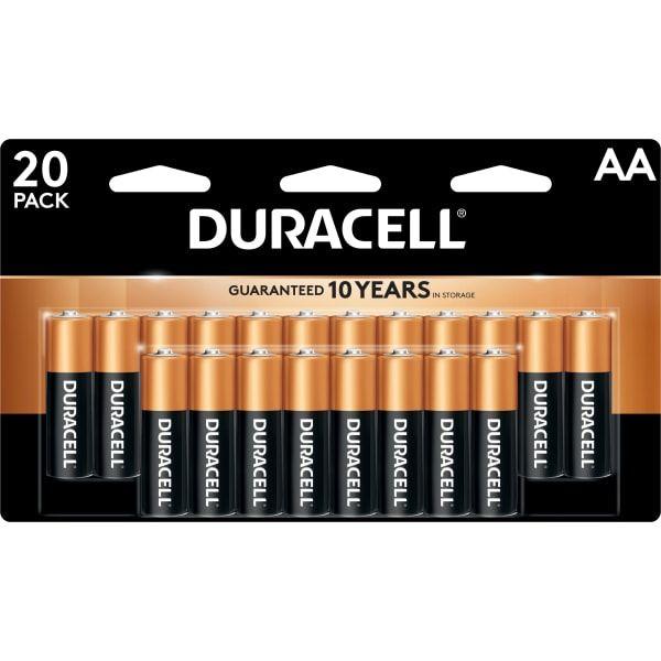 Coppertop Alkaline Aa Batteries Pack Of 20 Batteries Duracell Alkaline Battery Duracell Batteries
