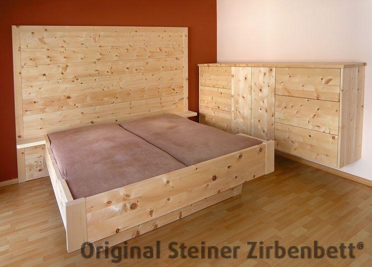 zirbenbett watzmann doppelbett massivholzbett zirbenbett schlafzimmer pinterest watzmann. Black Bedroom Furniture Sets. Home Design Ideas