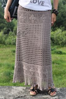 how to crochet this skirt