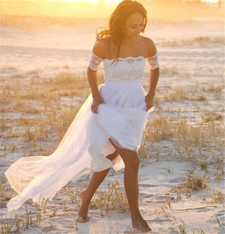 WOMENS BEACH WEDDING DRESS. BRIDAL GOWN. SIZES 2-16. HANDMADE.  | eBay