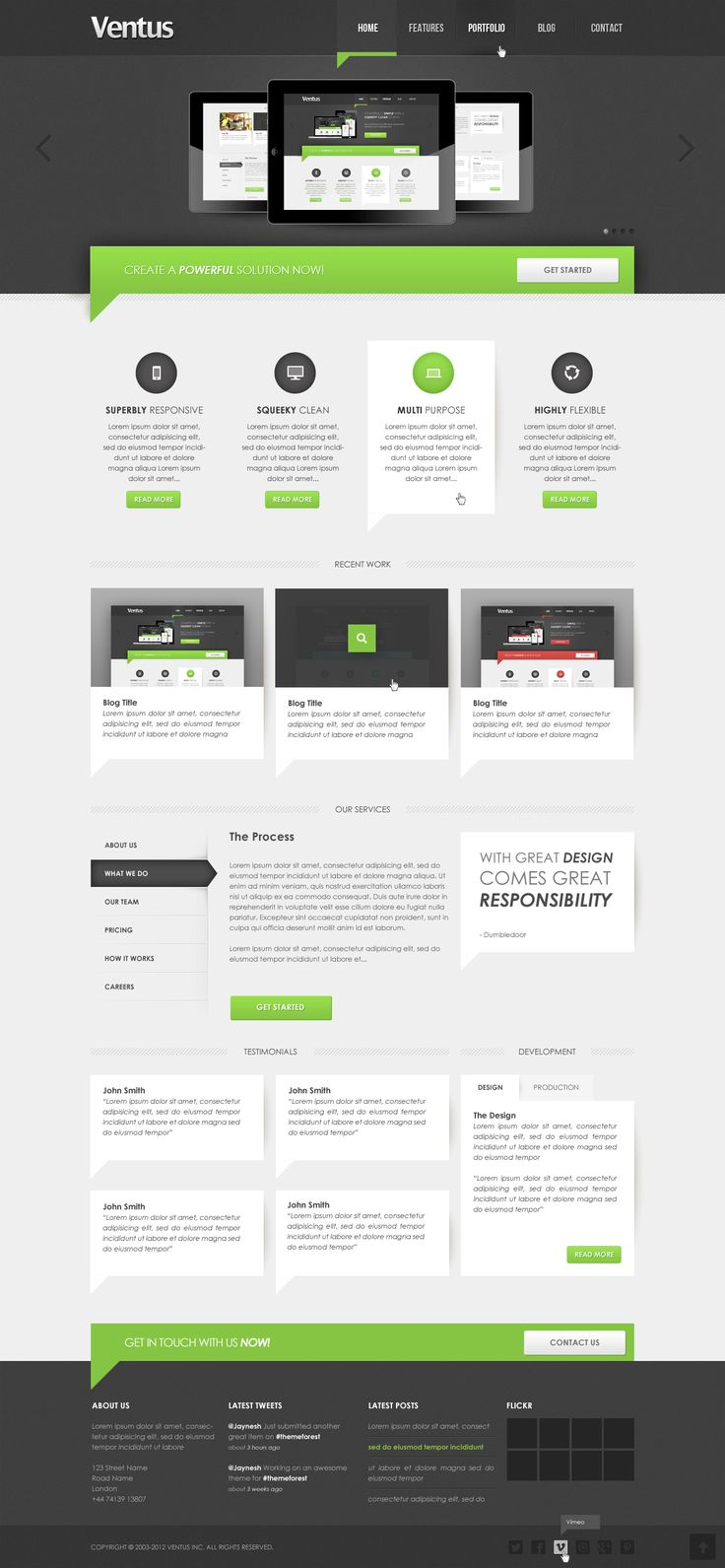 clean corporate web design - #web #design