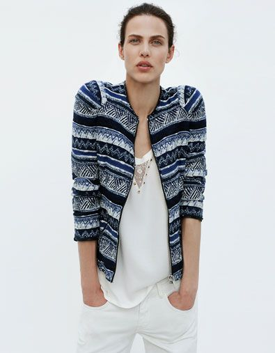 In LOVE with this tribal print jacket from ZARA. Not in love with the price tag though... :::sigh:::