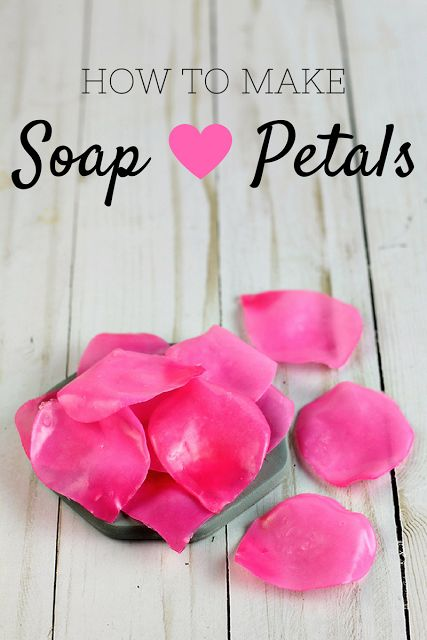 how to make soap petals