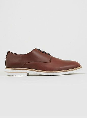 'Jermaine' Tan Leather Derby Shoes