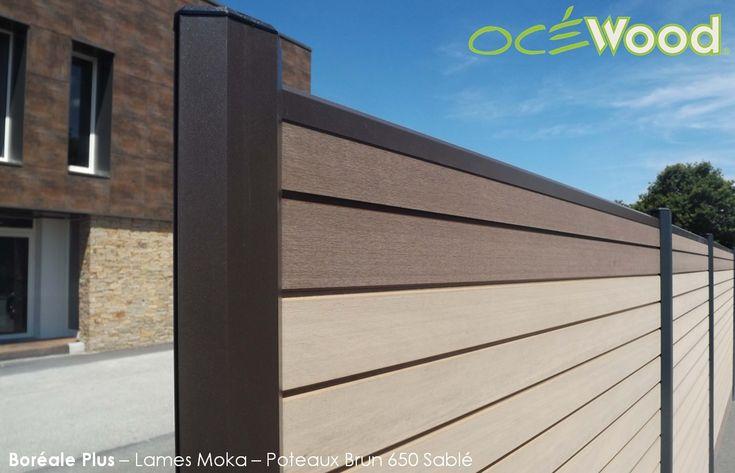 Cloture composite couleur bois Océwood®