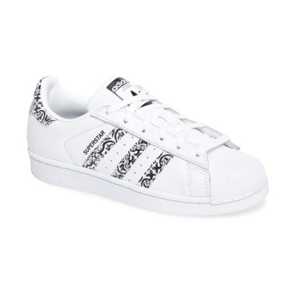 Women\u0027s Adidas Superstar Sneaker ($80) ? liked on Polyvore featuring shoes,  sneakers,