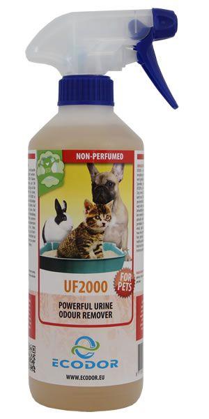 UF2000 for Pets van ecodor. Schijnt goed te werken tegen (ingetrokken) dierenplas.