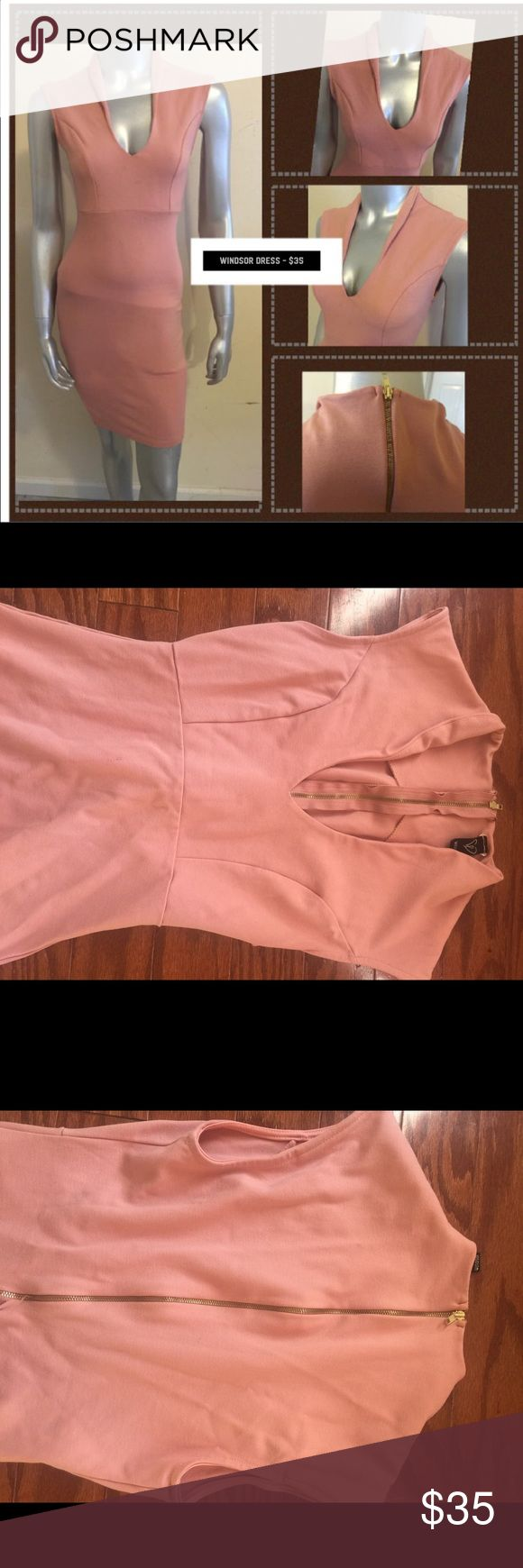 Pink Windsor Dress The dress is a cotton material. The dress zips in the back. WINDSOR Dresses Midi