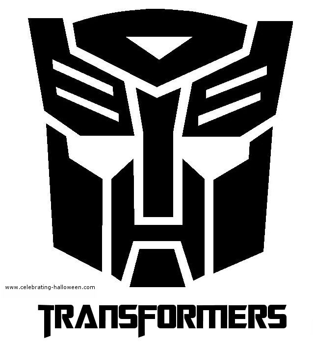 Pumpkin Stencils | Halloween Transformers Stencil 2- Free Pumpkin Carving Stencil/Pattern