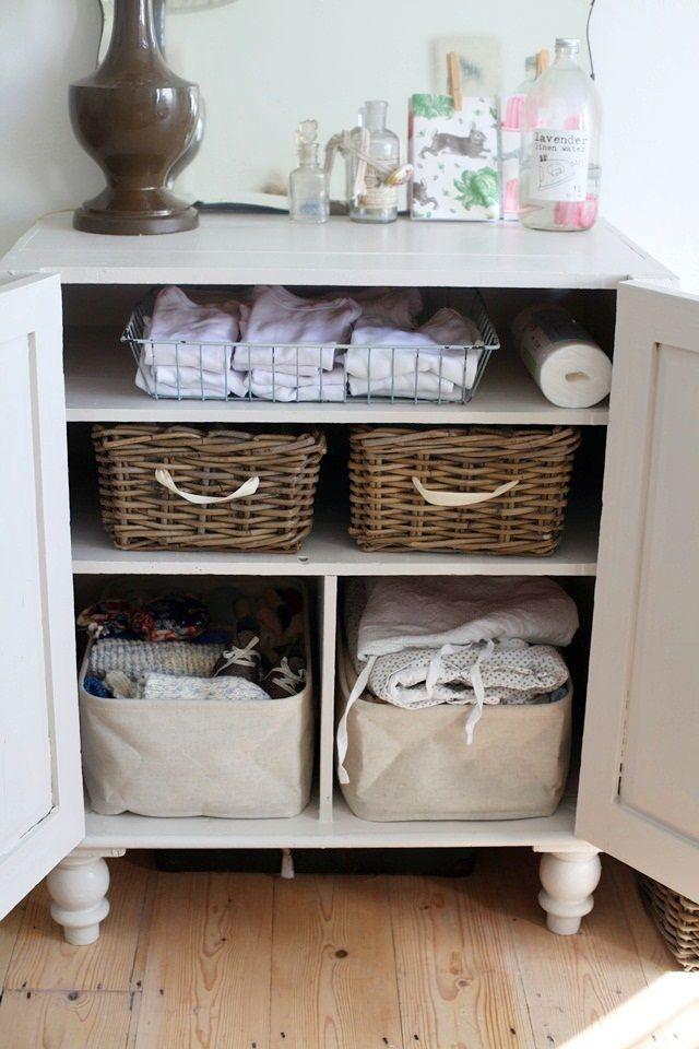 25 best ideas about baby storage baskets on pinterest for Bathroom basket storage ideas