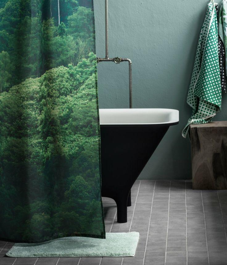 HundM Home Badematte und Duschvorhang