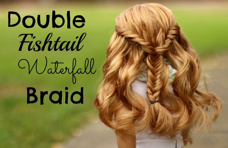 Double Fishtail Waterfall Braid into Fishtail Hair Tutorial. The first few steps is all you need to understand this technique.
