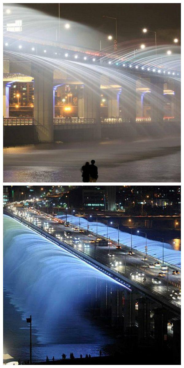 Символ Сеула – музыкальный фонтан на мосту!