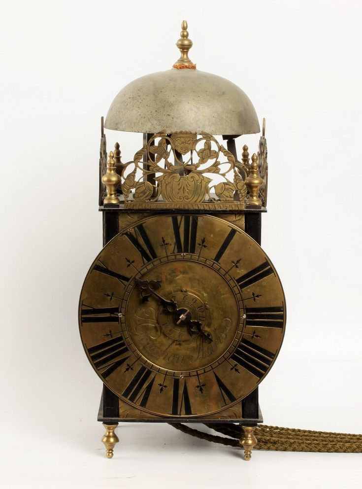 A French iron and brass lantern clock by Couchon A Paris, circa 1725