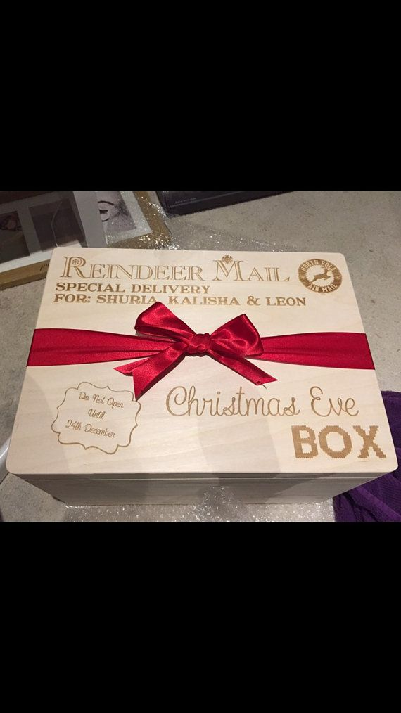 Christmas Eve box large Personalised by KayliesKraftsGifts on Etsy