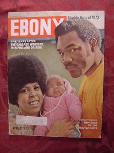 Ebony Magazine Cover 1950 | RARE Ebony Magazine April 1973 New Champ George Foreman | eBay