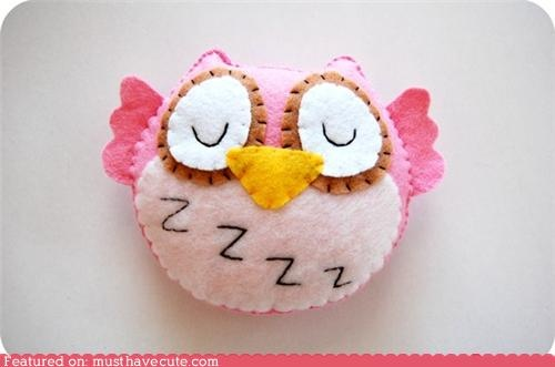 A pink plushie owl. Three reasons to love it.