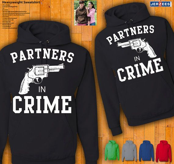 Couples Hoodies Partners In Crime by 77Teez on Etsy, $49.99