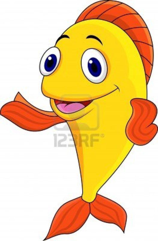 happy cartoon fish