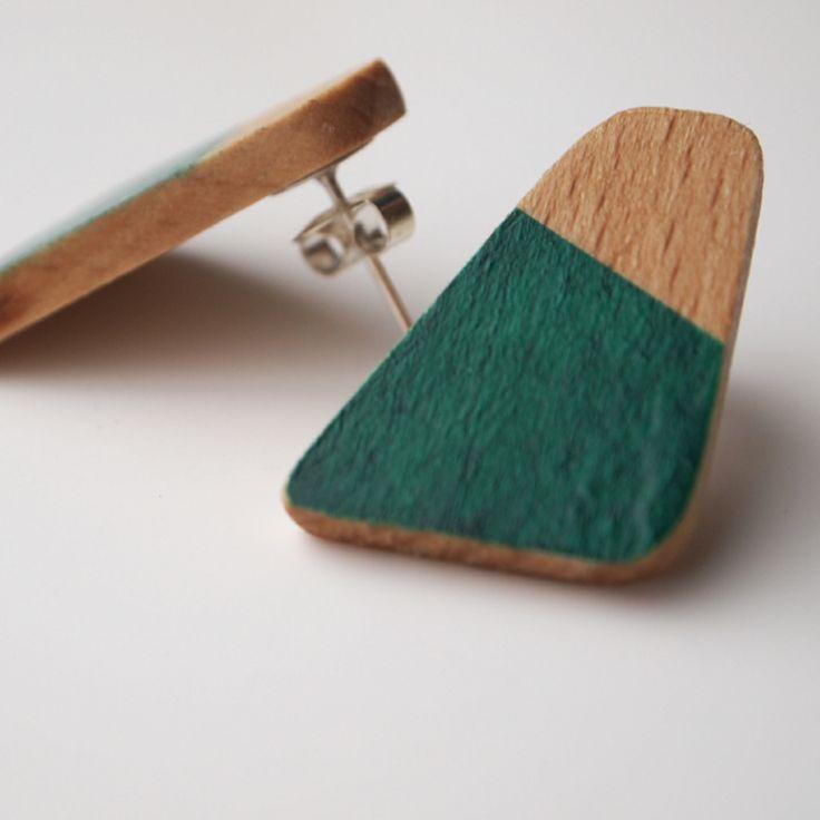 ahojowe kolczyki woodchuck     woodchuck earrings from ahoj.team! #wood #design #handmade #earrings
