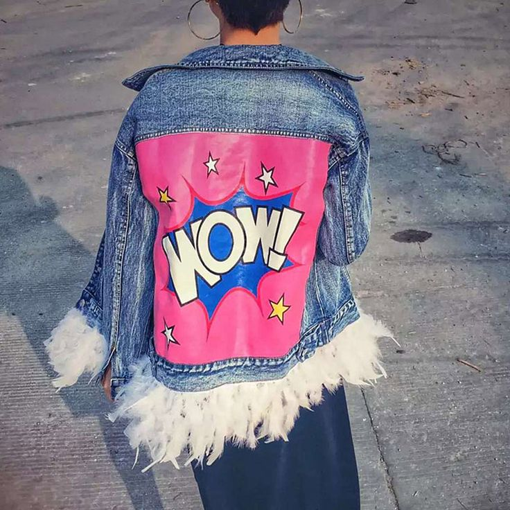 2016 Spring New Fashion Street style Detachable Real Feather Stitching Jacket Women Letters Denim Jacket and Coat  1556-in Basic Jackets from Women's Clothing & Accessories on Aliexpress.com | Alibaba Group