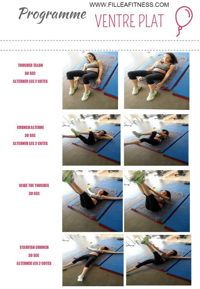 Programme abdominaux en 10 minutes - Fille à fitness