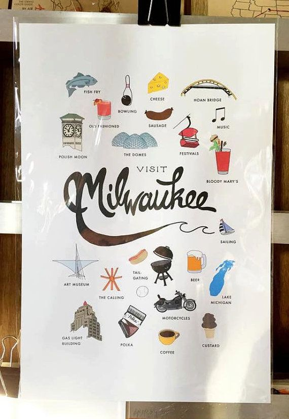 Hey, I found this really awesome Etsy listing at https://www.etsy.com/listing/229900958/visit-milwaukee-print-12x18