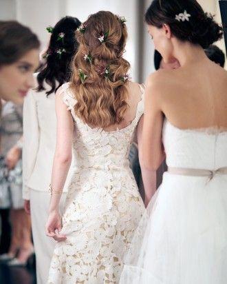 Wedding entourage hairstyles