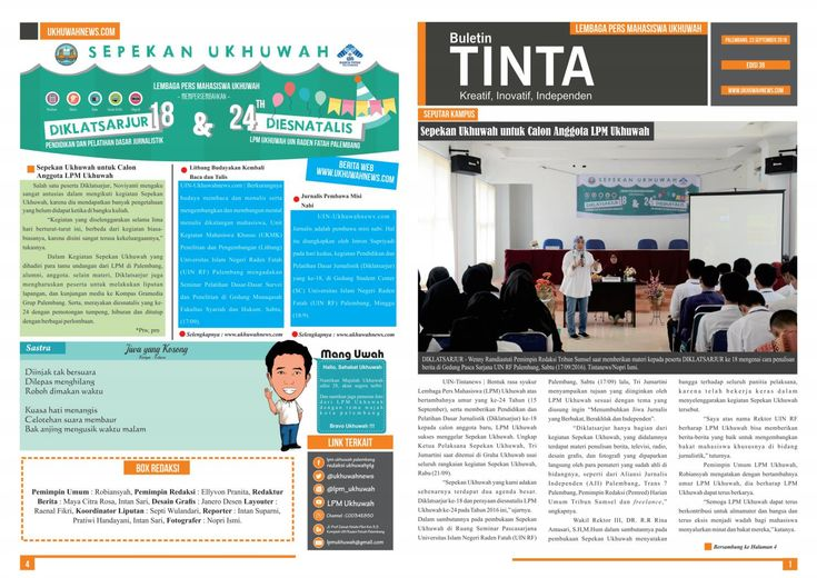 Buletin Tinta Edisi 39, 23 September 2016