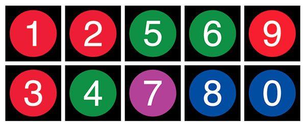 Nyc subway numbers printable