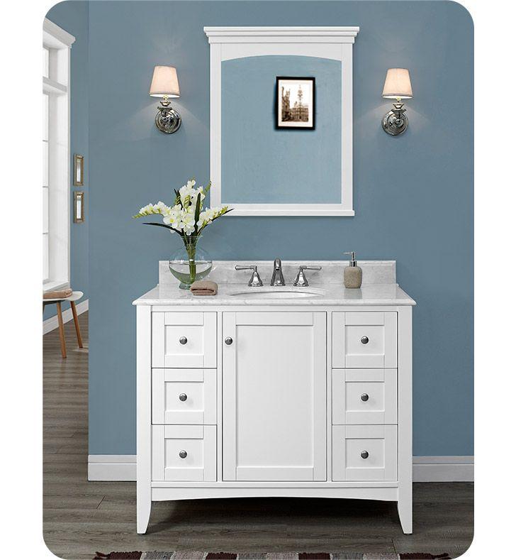 Fairmont Designs 1512-V42 Shaker Americana 42 inch  Vanity in Polar White
