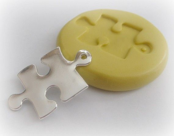 Puzzle Piece Mold Charm Resin Polymer Clay PMC by WhysperFairy