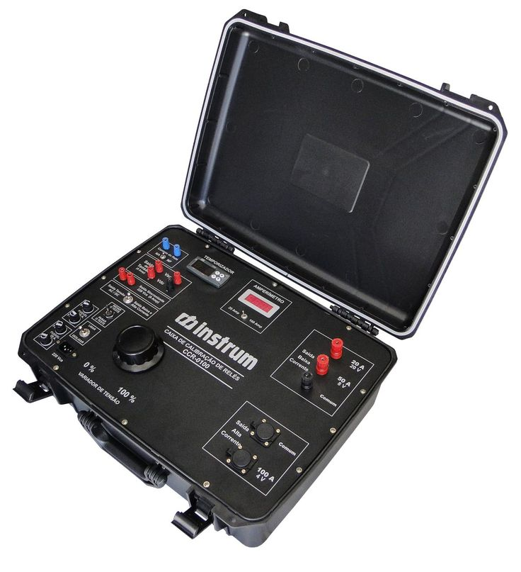 Caixa de Calibração de Relé Digital de 100A MODELO:CCR-100 MARCA:INSTRUM - INSTRUM 35 ANOS