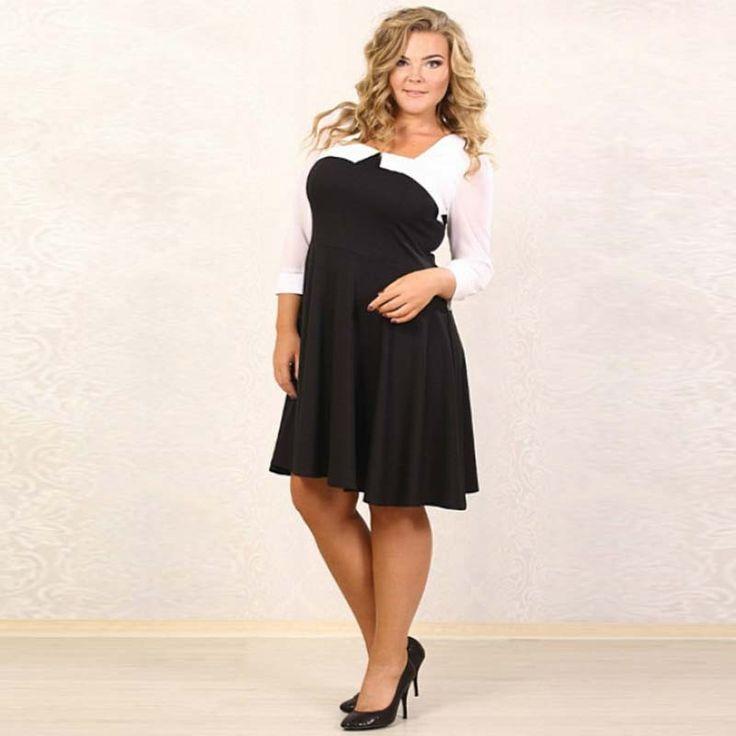 Black long sleeve dress plus size