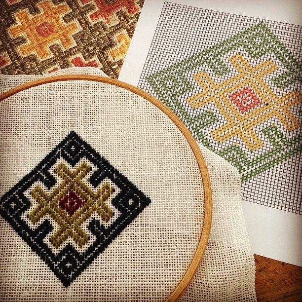I also learnt pattern darning (vävsöm) from Åsa vävare #happycrafter #doublewars #drachenwald #dwald #sca #embroidery #loom | Flickr - Photo Sharing!