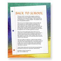 Free school newsletter template