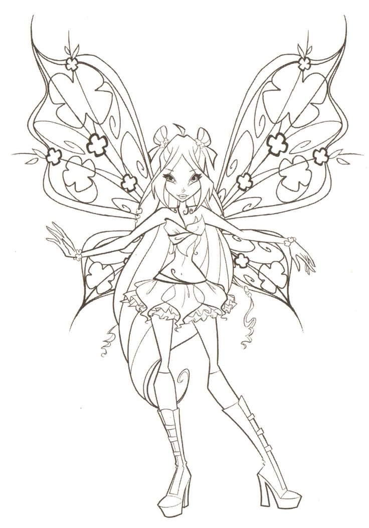 Winx Club Flora Believix Coloring Pages