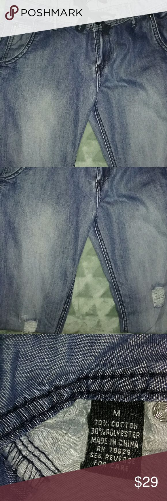 Blue jeans joggers Pre owned in excellent condition Jeans Ankle & Cropped