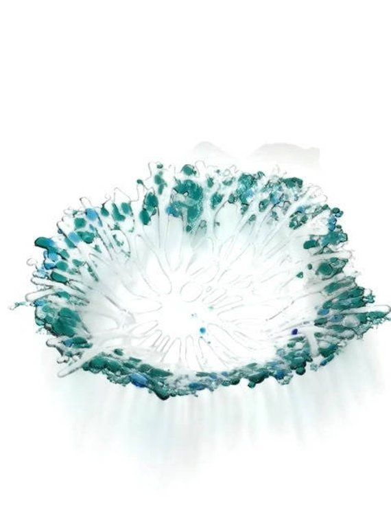 Art Gl Bowl Table Decor Centerpiece Home Glware Ocean