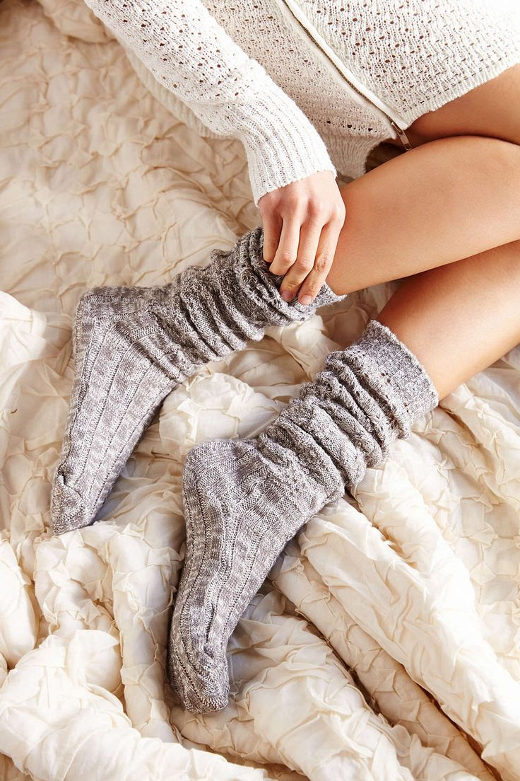Knit Ribbed Socks <3 i need some comfy socks.. high, low, thigh, knee, ankle.. just cozy please!